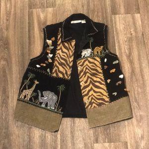 Retro Vintage 90's 80's Safari Vest